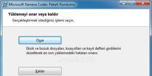 Microsoft Fotoğraf Makinesi Codec Paketi indir